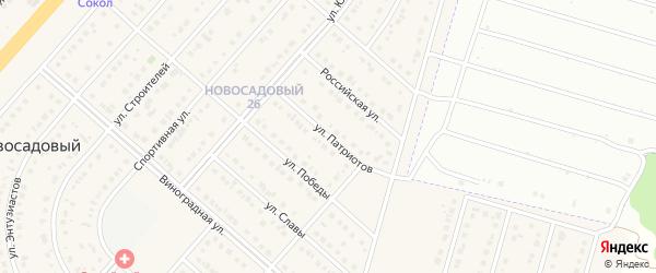 Улица Патриотов на карте Новосадового поселка Белгородской области с номерами домов