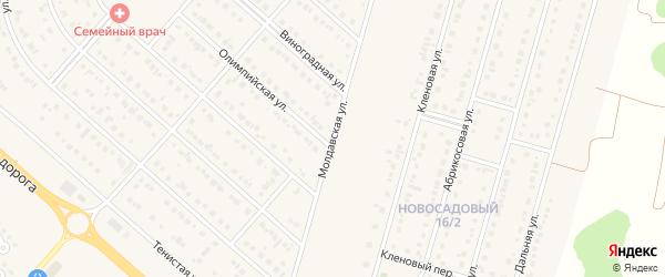 Молдавская улица на карте Новосадового поселка Белгородской области с номерами домов