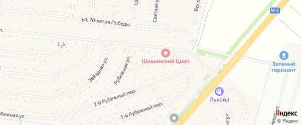 Рубежный 3-й переулок на карте села Шишино Белгородской области с номерами домов