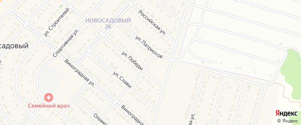 Переулок Победы на карте Новосадового поселка Белгородской области с номерами домов