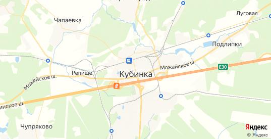 Карта Кубинки с улицами и домами подробная. Показать со спутника номера домов онлайн