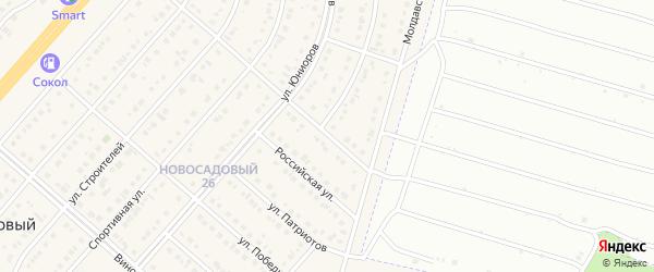 Белгородский проезд на карте Новосадового поселка Белгородской области с номерами домов