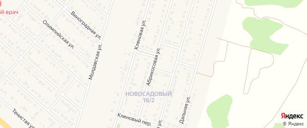 Абрикосовая улица на карте Новосадового поселка Белгородской области с номерами домов