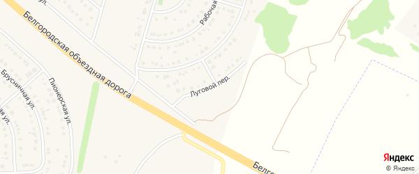 Луговой переулок на карте Новосадового поселка Белгородской области с номерами домов
