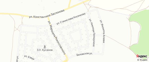 Улица Владимира Тимощука на карте Белгорода с номерами домов