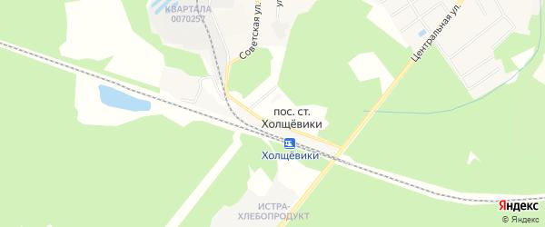 Территория СНТ Холщёвики-1 на карте поселка станции Холщевики Московской области с номерами домов