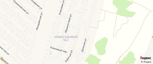 Рабочая улица на карте Новосадового поселка Белгородской области с номерами домов