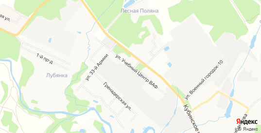 ГСК Учебный центр ВАФ на карте Наро-Фоминска с номерами домов