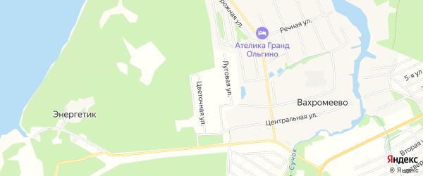 Карта садового некоммерческого товарищества Дорожника города Конаково в Тверской области с улицами и номерами домов