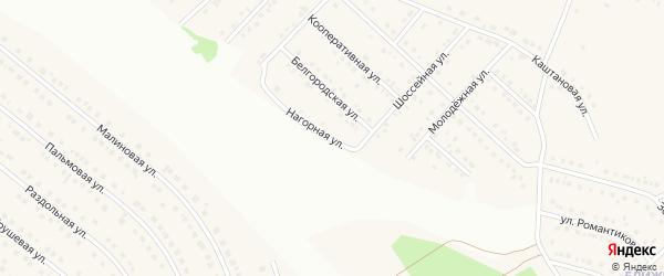 Нагорная улица на карте села Ближней Игуменки Белгородской области с номерами домов