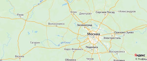 Карта Истринского района Московской области с городами и населенными пунктами