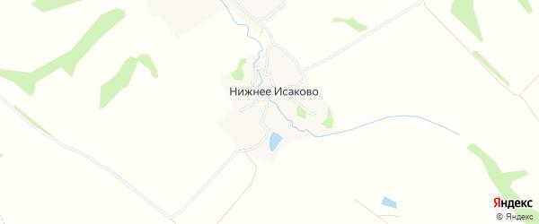 Карта деревни Нижнее Исаково в Тульской области с улицами и номерами домов