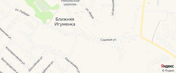 Садовая улица на карте села Ближней Игуменки с номерами домов