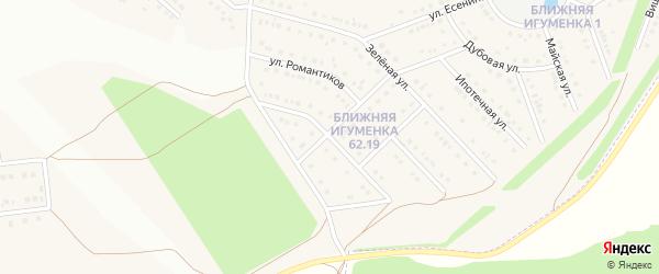 Улица Голубые Дали на карте села Ближней Игуменки с номерами домов