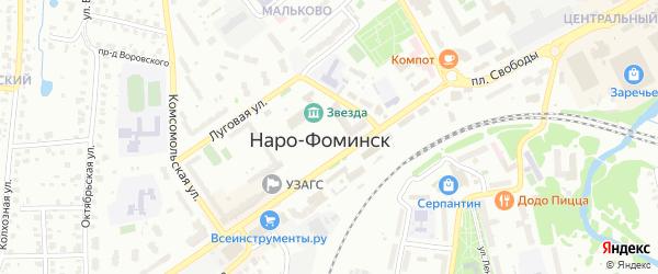 Квартал 24 Наро-Фоминского лесничества на карте Наро-Фоминска Московской области с номерами домов