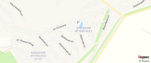 Кольцевая улица на карте села Ближней Игуменки с номерами домов