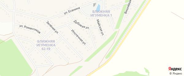 Славянский переулок на карте села Ближней Игуменки с номерами домов