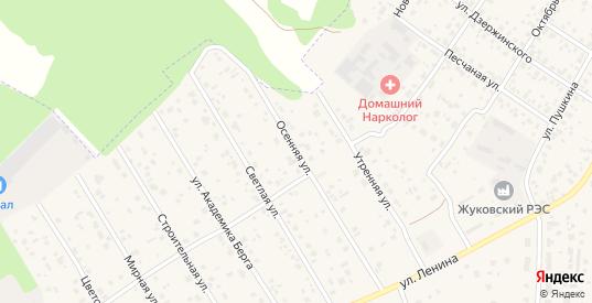 Осенняя улица в Жукове с номерами домов на карте. Спутник и схема онлайн