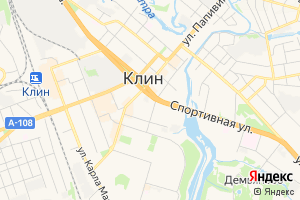 Карта г. Клин Московская область