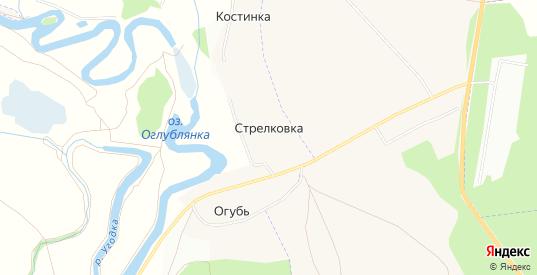 СНТ Стрелковка на карте Жукова с номерами домов