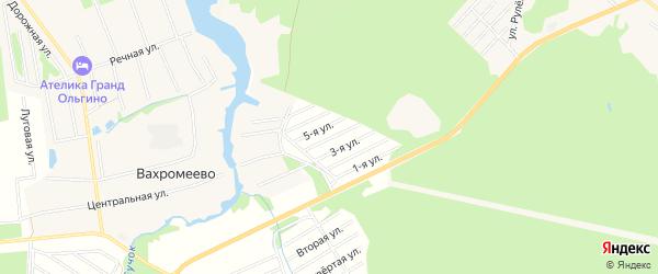 Карта садового некоммерческого товарищества Надежды города Конаково в Тверской области с улицами и номерами домов