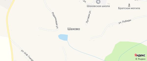 Речная улица на карте села Шахово с номерами домов