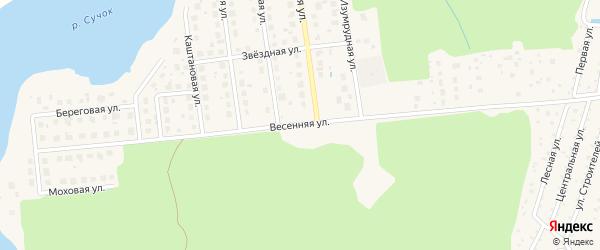 Весенняя улица на карте Конаково с номерами домов