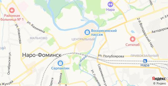 СТ Елочка на карте Наро-Фоминска с номерами домов
