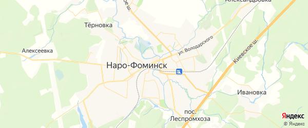 Карта Наро-Фоминска с районами, улицами и номерами домов: Наро-Фоминск на карте России