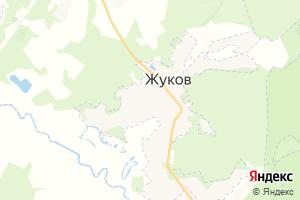 Карта г. Жуков Калужская область