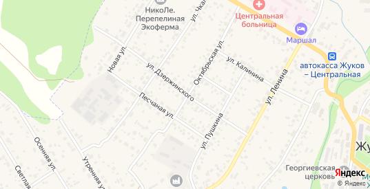 Улица Дзержинского в Жукове с номерами домов на карте. Спутник и схема онлайн