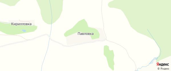 Карта деревни Павловки в Тульской области с улицами и номерами домов