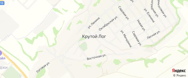 Карта села Крутого Лога в Белгородской области с улицами и номерами домов