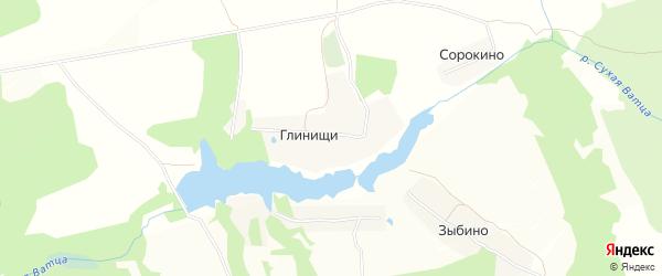 Карта села Глинищи в Тульской области с улицами и номерами домов