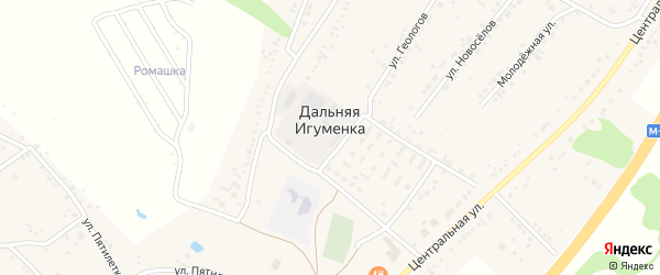 Корочанская улица на карте села Дальней Игуменки с номерами домов