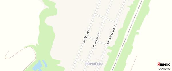 Улица Дружбы на карте поселка Прохоровка с номерами домов