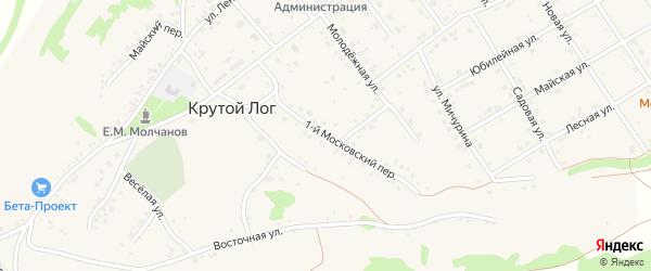 Московский 1-й переулок на карте села Крутого Лога Белгородской области с номерами домов