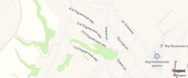 Подлестный 2-й переулок на карте села Крутого Лога Белгородской области с номерами домов