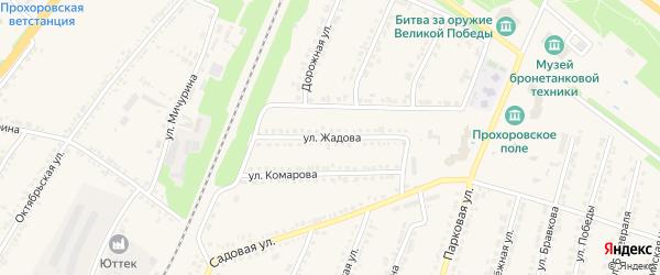 Улица Жадова на карте поселка Прохоровка с номерами домов