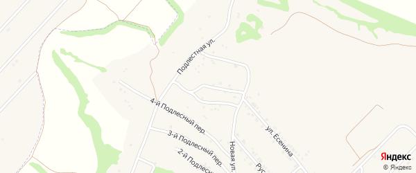 Подлестный 6-й переулок на карте села Крутого Лога с номерами домов