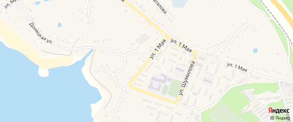 Улица Шумилова на карте поселка Маслова Пристани с номерами домов