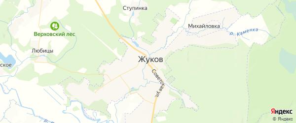Карта Жукова с районами, улицами и номерами домов