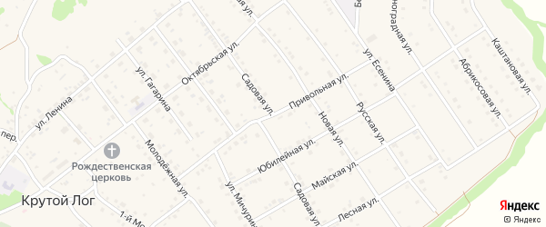Привольная улица на карте села Крутого Лога Белгородской области с номерами домов