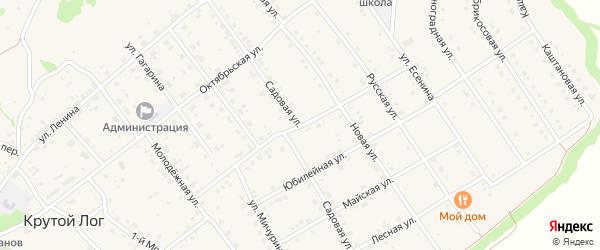 Привольная улица на карте села Крутого Лога с номерами домов