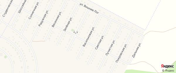 Васильковая улица на карте села Севрюково Белгородской области с номерами домов