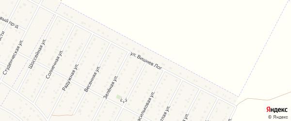 Улица Вишнев Лог на карте села Севрюково Белгородской области с номерами домов