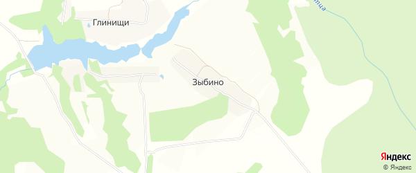 Карта деревни Зыбино в Тульской области с улицами и номерами домов