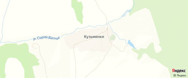 Карта деревни Кузьменки в Тульской области с улицами и номерами домов