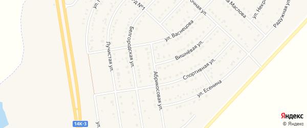 Абрикосовая улица на карте поселка Маслова Пристани Белгородской области с номерами домов