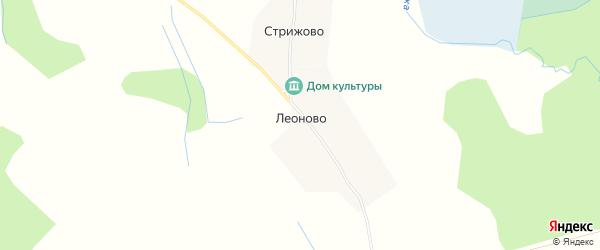 Карта деревни Леоново в Тверской области с улицами и номерами домов